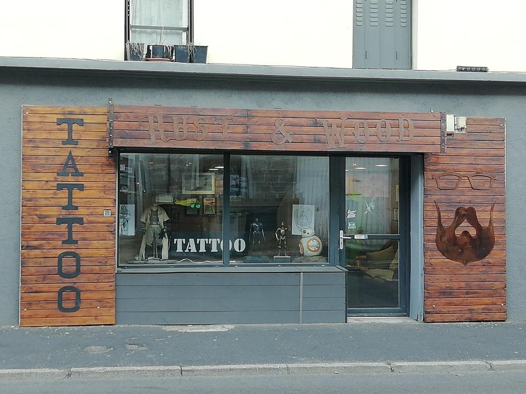 Rust and Wood Tattoo